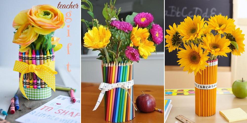 Цветы учителям своими руками